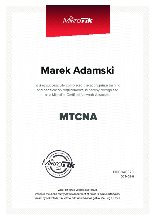 MikroTik Certified - Network Associate