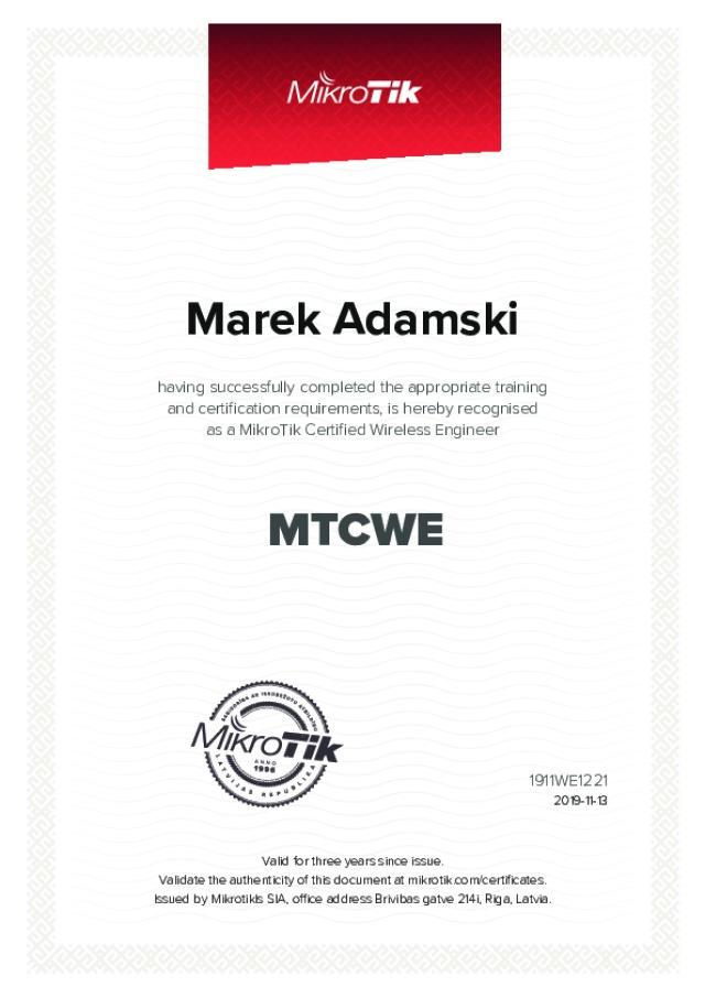 MikroTik Certified - Wireless Engineer