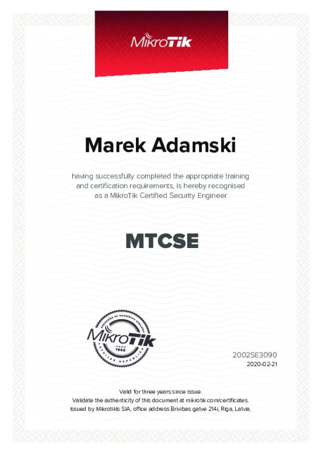 MikroTik Certified - Security Engineer